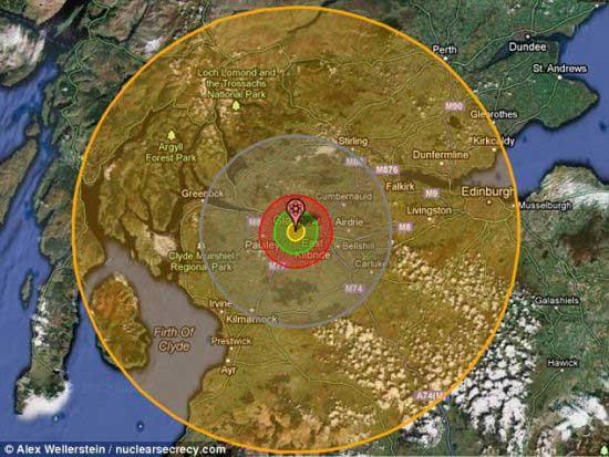 最大氢弹图片_物理学家研制核地图展示核武器破坏程度